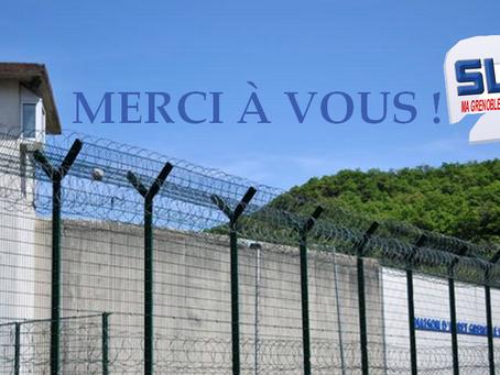 Prison de Grenoble : Merci à vous !
