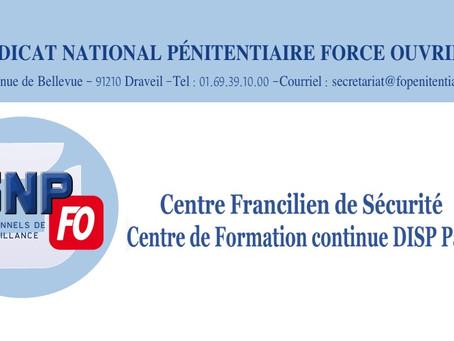 Centre Francilien de Sécurité Centre de Formation continue DISP Paris : Réponse DAP