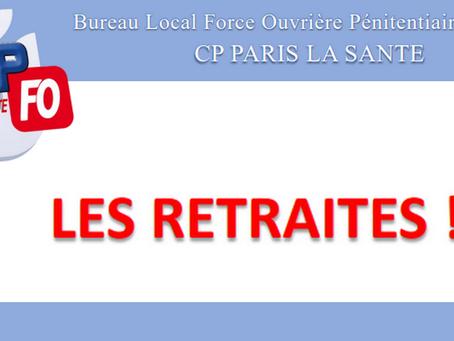 Prison de Paris La Santé : Les retraites !!!