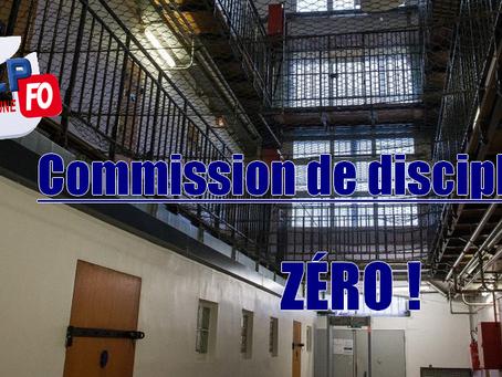Prison de Béthune : Commission de discipline, ZÉRO !