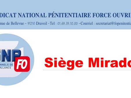 Siège mirador : Lettre ouverte au Directeur de l'Administration Pénitentiaire