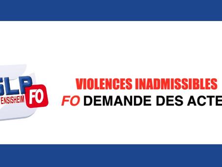 Prison de Ensisheim : Violences inadmissibles, FO demande des actes