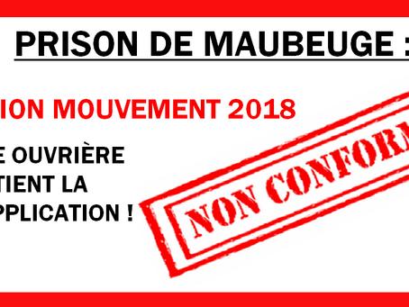 Prison de Maubeuge : Sanctions mouvement de 2018. Force ouvrière obtient la non application !
