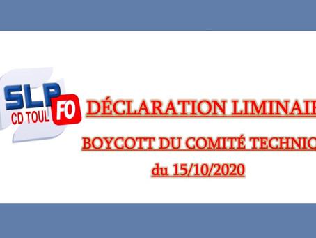 Prison de Toul : Boycott du Comité Technique du 15/10/2020