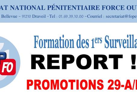 Formation des 1ers Surveillants : Report !!!! Promotions 29-A/B