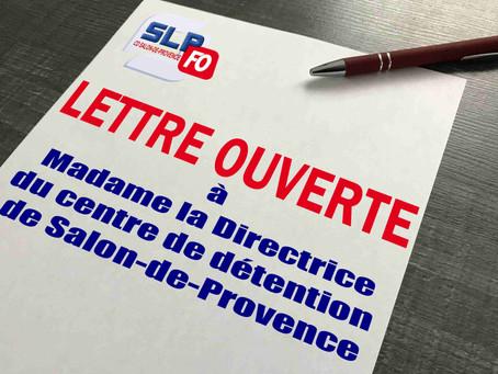Prison de Salon-de-Provence : Lettre ouverte à Madame la Directrice