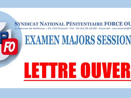 Lettre ouverte à Madame Nicole Belloubet Garde des Sceaux, Ministre de la justice : Session Majors 2
