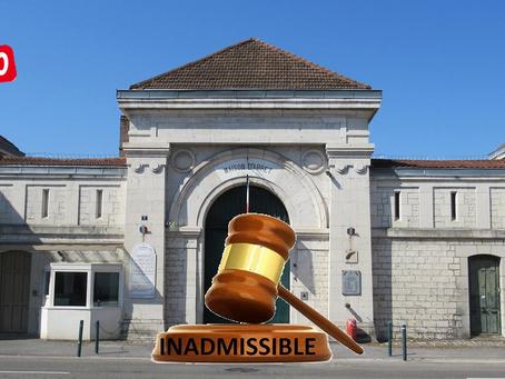 Prison de Besançon : Inadmissible !!