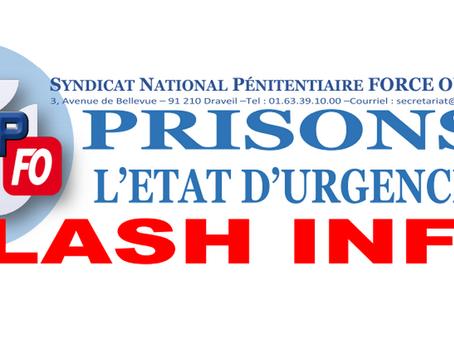 Prisons : L'état d'urgence ! FLASH INFO !