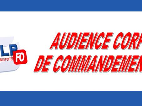 Prison d'Avignon Le Pontet : Audience corps de commandement