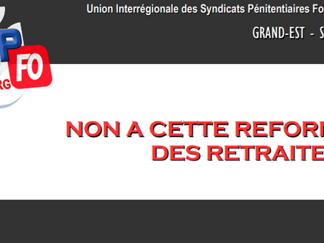 DI Grand-Est Strasbourg : Non à cette réforme des retraites !