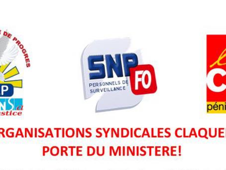 Les Organisations Syndicales claquent la porte du Ministère !