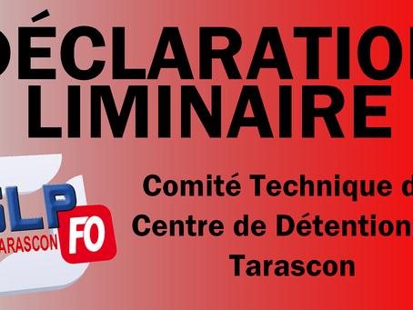 Prison de Tarascon : Déclaration liminaire