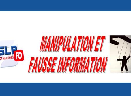 Prison d'Aix-Luynes : Manipulation et fausse information