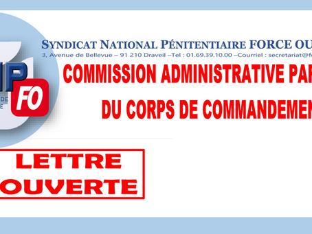 Commission Administrative Paritaire du Corps de Commandement