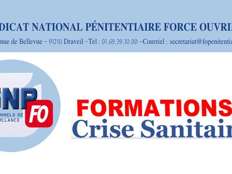 Formations ? Crise sanitaire : Lettre ouverte au Directeur de l'Administration Pénitentiaire