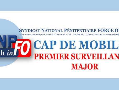 CAP de Mobilité : Premier Surveillant et Major