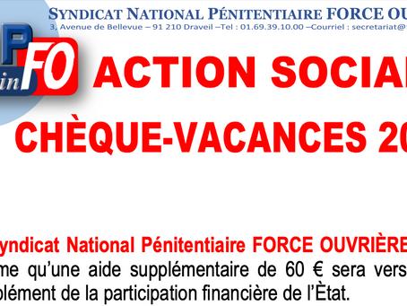 Action sociale : Chèque-Vacances 2021