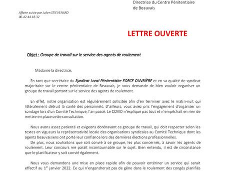 Prison de Beauvais : Lettre ouverte à la Directrice du Centre Pénitentiaire