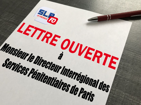 Prison de Fresnes : Lettre ouverte à Monsieur le Directeur Interrégional des Services Pénitentiaires