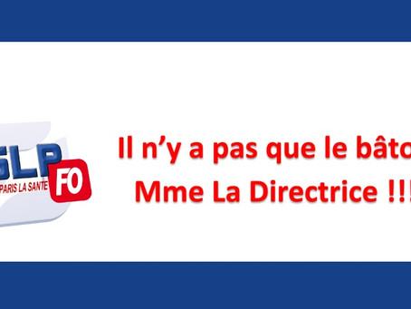 Prison de Paris La Santé : Il n'y a pas que le bâton Mme La Directrice !!!