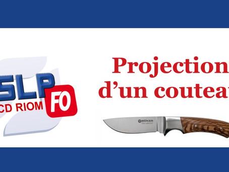 Prison de Riom : Projection d'un couteau
