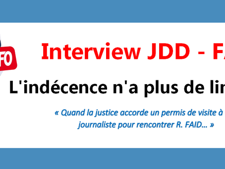 Prison de Vendin-le-Vieil : Interview JDD-FAÏD, L'indécence n'a plus de limite !