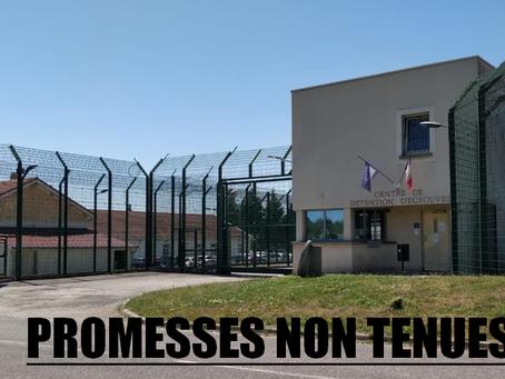 Prison d'Écrouves : Promesses non tenues ?