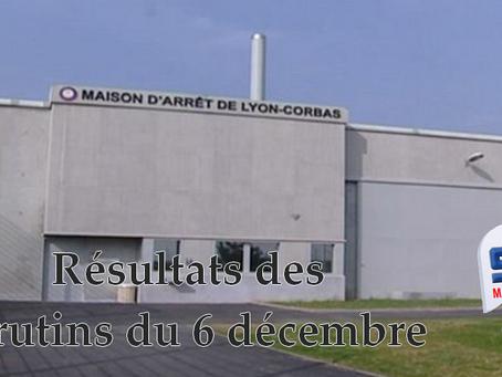 Prison de Lyon-Corbas : Résultats des scrutins du 6 décembre