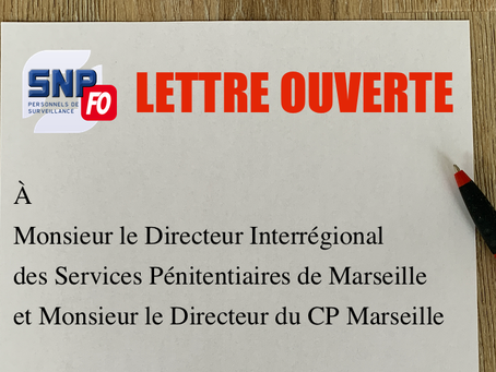Prison de Marseille : Lettre ouverte à Monsieur le Directeur Interrégional des Services Pénitentiair