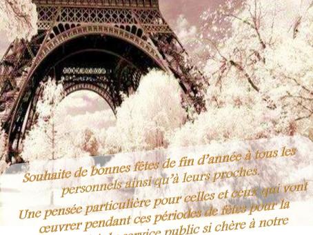DISP de Paris : Joyeux Noël à Toutes et tous !