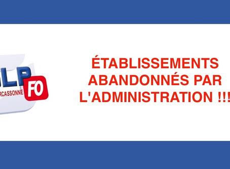 Prison de Carcassonne : Établissements abandonnés par l'administration !!!