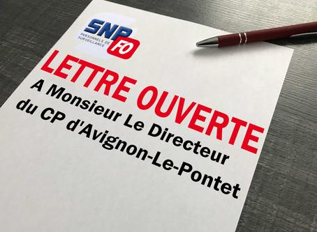 Prison d'Avignon-Le-Pontet : Lettre ouverte à Monsieur le directeur du centre pénitentiaire