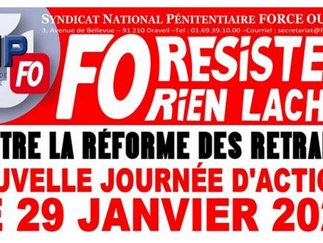 Contre la réforme des retraites : Nouvelle journée d'actions le 29 Janvier 2020