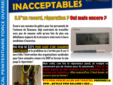 SPIP Soissons : Conditions de travail inacceptables