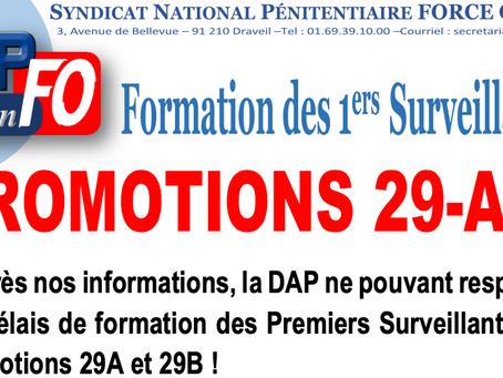 Formation des 1ers Surveillants : Promotions 29-A/B