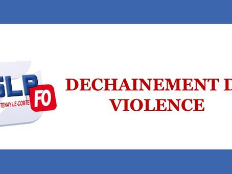 Prison de Fontenay-le-Comte : Déchaînement de violence