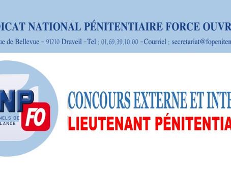 Concours externe et interne : Lieutenant pénitentiaire