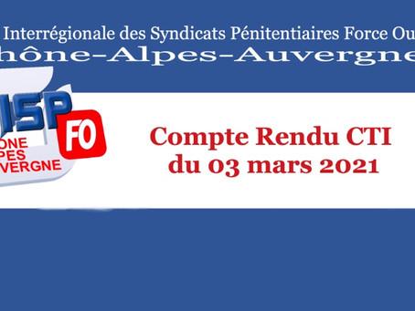 Compte Rendu CTI du 03 mars 2021