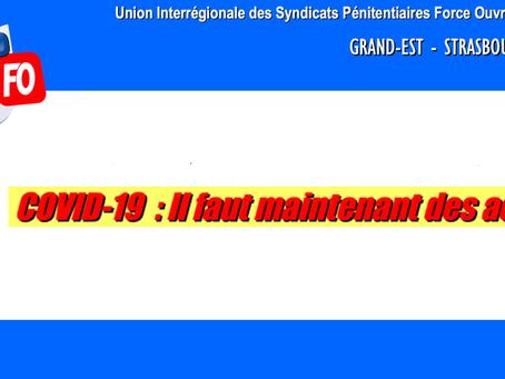DI de Strasbourg : COVID-19 Il faut maintenant des actes !
