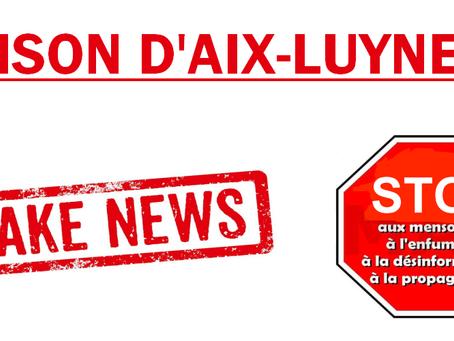 Prison d'Aix-Luynes : Fake News
