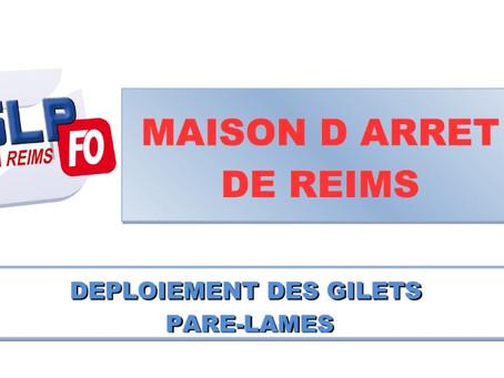 Prison de Reims : Déploiement des gilets pare-lames
