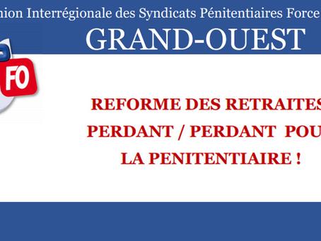 DI de Rennes : Réforme des retraites, perdant / perdant pour la Pénitentiaire