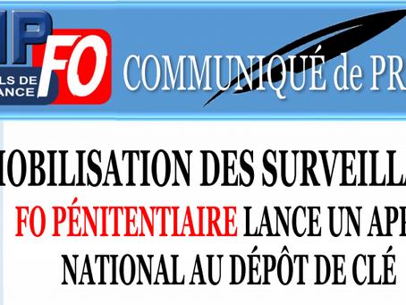 Mobilisation des Surveillants : FO Pénitentiaire lance un appel national au dépôt de clé