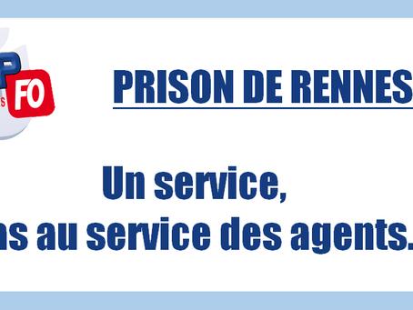 Prison de Rennes : Un service, pas au service des agents...