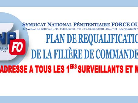Plan de requalification de la filière de commandement : FO s'adresse à tous les 1ers Surveillant