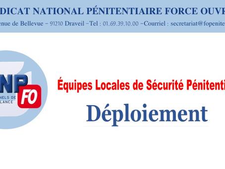 Équipes Locales de Sécurité Pénitentiaire : Déploiement