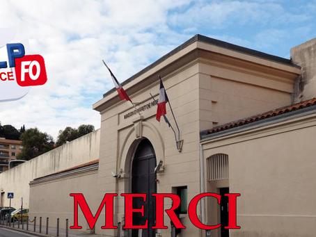 Prison de Nice : Merci