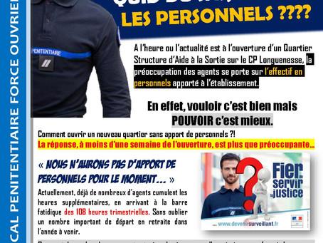 Prison de Longuenesse : Quid du SAS, où sont les personnels ????