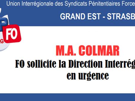 Prison de Colmar : FO sollicite la Direction interrégionale en urgence